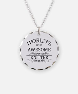 World's Most Awesome Knitter Necklace