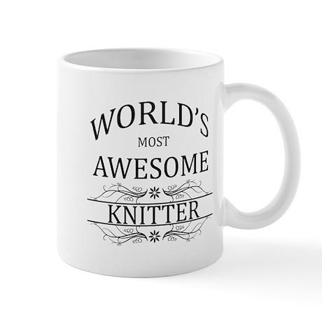World's Most Awesome Knitter Mug
