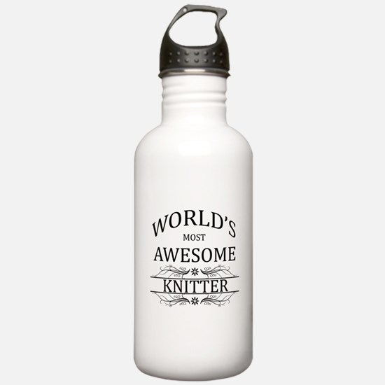World's Most Awesome Knitter Water Bottle