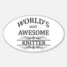 World's Most Awesome Knitter Decal