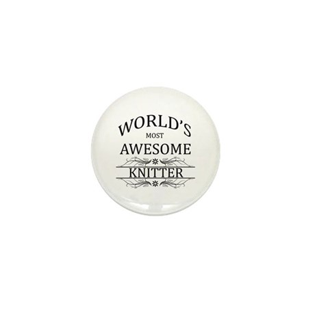 World's Most Awesome Knitter Mini Button (100 pack