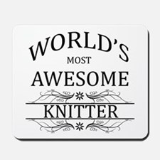 World's Most Awesome Knitter Mousepad