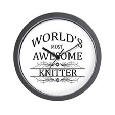 World's Most Awesome Knitter Wall Clock