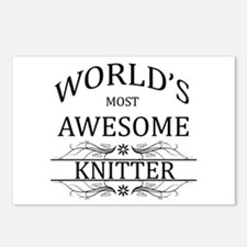 World's Most Awesome Knitter Postcards (Package of