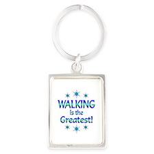 Walking is the Greatest Portrait Keychain