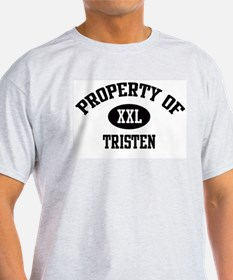 Property of Tristen Ash Grey T-Shirt