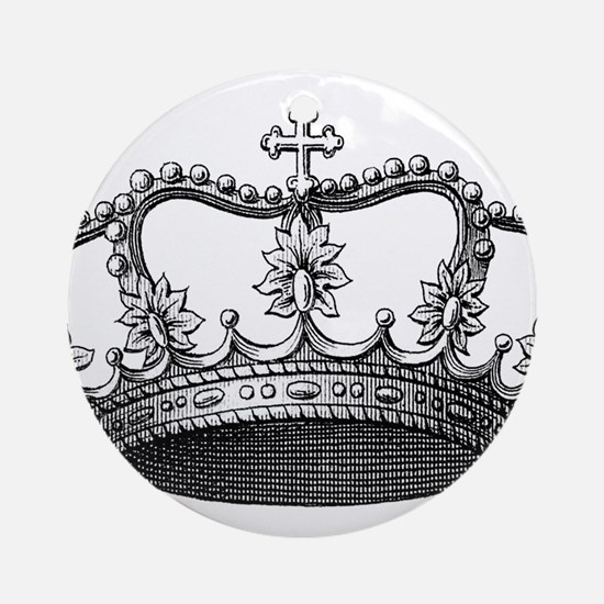 vintage crown Ornament (Round)