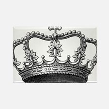 vintage crown Rectangle Magnet