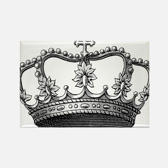 vintage crown Rectangle Magnet