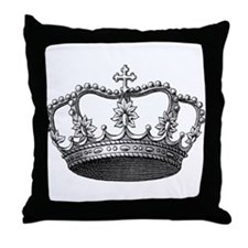 vintage crown Throw Pillow