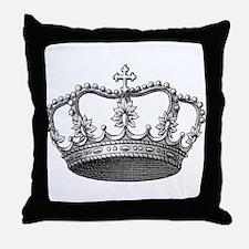 vintage crown Throw Pillow