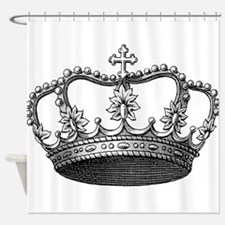 vintage crown Shower Curtain