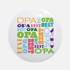 Best Opa Gift Ornament (Round)
