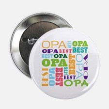 "Best Opa Gift 2.25"" Button"