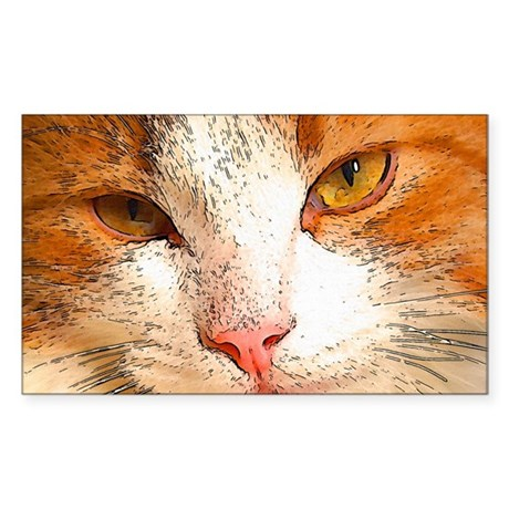 Whimsical Whiskers Rectangle Sticker