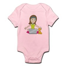 Happy Laptop Lady Infant Bodysuit