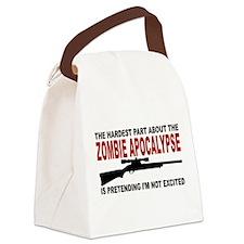 Zombie Apocalypse Canvas Lunch Bag