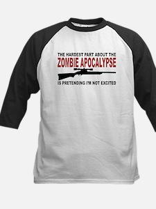 Zombie Apocalypse Kids Baseball Jersey