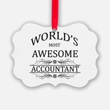 World's Most Awesome Accountant Ornament