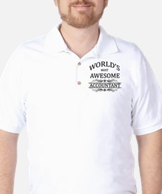 World's Most Awesome Accountant Golf Shirt