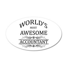 World's Most Awesome Accountant Wall Decal
