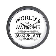 World's Most Awesome Accountant Wall Clock