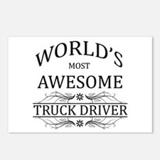 World's Most Awesome Truck Driver Postcards (Packa