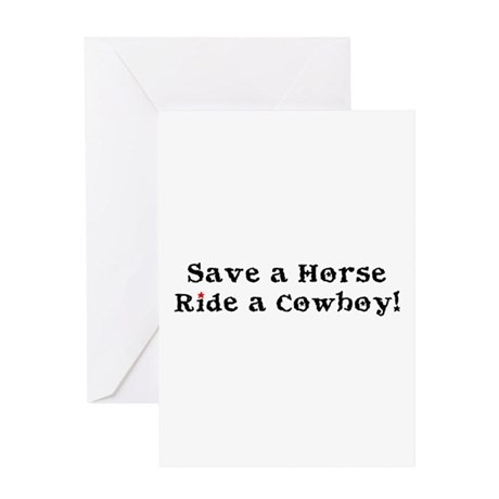 Save a Horse Ride a Cowboy Greeting Card