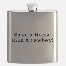 Save a Horse Ride a Cowboy Flask