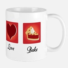 Peace Love Bake Mug