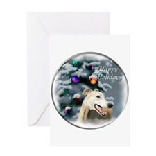 Greyhound Christmas Greeting Card