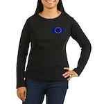 EU Oval Flag Women's Long Sleeve Dark T-Shirt
