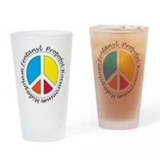 Peace out with Meds Italics Drinking Glass