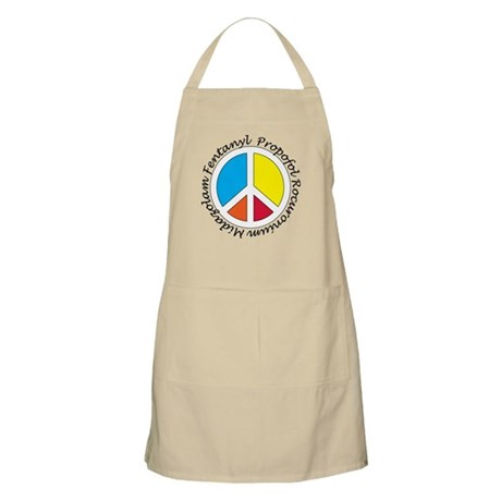 Peace out with Meds Italics Apron