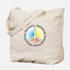 Peace out with Meds Light Colours Tote Bag