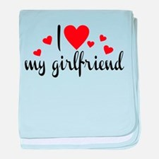 I love my girlfriend baby blanket