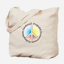 Peace out with Meds Italics Colours Light Tote Bag