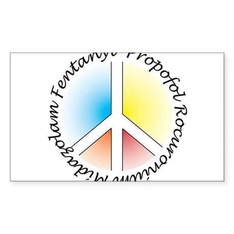 Peace out with Meds Italics Colours Light Sticker