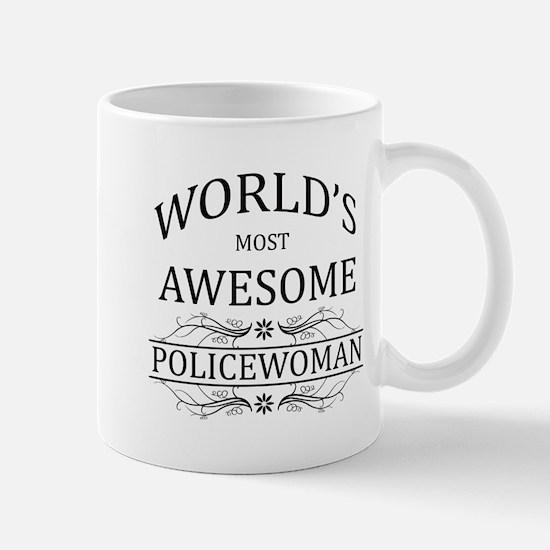 World's Most Awesome Policewoman Mug