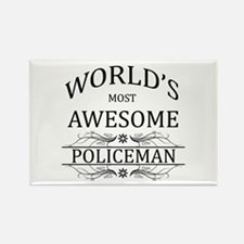 World's Most Awesome Policeman Rectangle Magnet