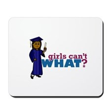 Graduate Girl in Blue Gown Mousepad