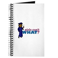 Graduate Girl in Blue Gown Journal