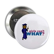 "Graduate Girl in Blue Gown 2.25"" Button"