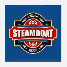 Steamboat Old Label Tile Coaster