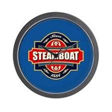 Steamboat Old Label Wall Clock