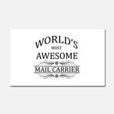 World's Most Awesome Mail Carrier Car Magnet 20 x