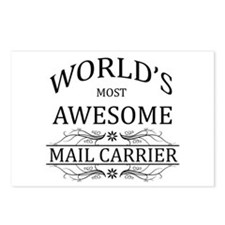 World's Most Awesome Mail Carrier Postcards (Packa