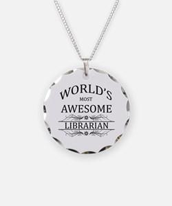 World's Most Awesome Librarian Necklace