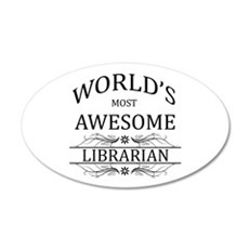 World's Most Awesome Librarian Wall Sticker