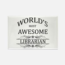 World's Most Awesome Librarian Rectangle Magnet (1